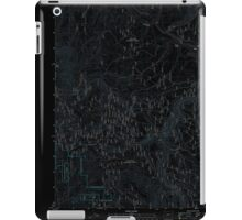 USGS Topo Map Oregon Bates 20110817 TM Inverted iPad Case/Skin
