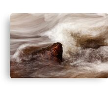 A Study Of Water - Red Granite Jewel Canvas Print