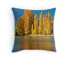 Golden Poplars - New Zealand Throw Pillow