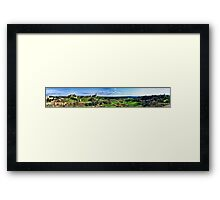 Panorama of Tuscania - San Pietro and Fields Framed Print