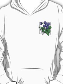 V is for Violet patch T-Shirt
