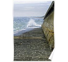 Slipway Splash, Bridlington Harbour Poster