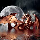 Dragon Moon Fantasy Art Design by Val  Brackenridge