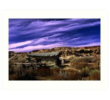Clouds over Wolfe cabin Art Print