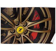 Ferrari - Wheel detail Poster