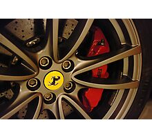 Ferrari - Wheel detail Photographic Print
