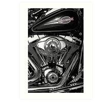 Chrome Harley Art Print