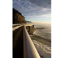 Railing - Seacliff Bridge, Illawarra, Australia Photographic Print