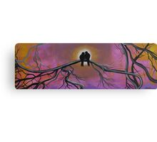 Birds Of A Feather, Tree Painting Canvas Print