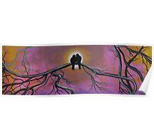 Birds Of A Feather, Tree Painting Poster