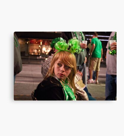 Little Miss Saint Paddys Day Canvas Print