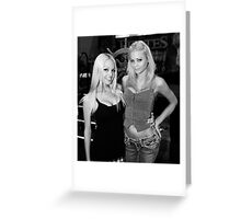Porn Stars BW Greeting Card