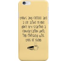 Books and Cofee, baby iPhone Case/Skin