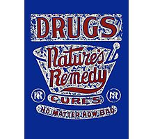 Funny Vintage Drugs T-shirt Photographic Print