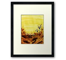 Hot  Summers Day Near the Desert,  Watercolor Framed Print
