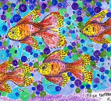 Fish Patterns   ACEO by Regina Valluzzi