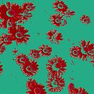 Daisies (green & red) by Ludwig Wagner