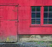 The Red Barn Door and Window by Jennifer Hulbert-Hortman