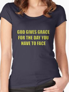 grace to face Women's Fitted Scoop T-Shirt