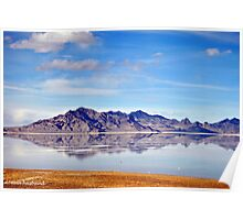 The Salt Desert in Utah Poster