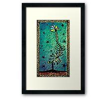 Fantasy Flower Hand Draw Illustration Framed Print