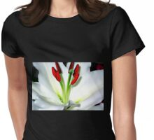 The Heart Of A Lily Womens Fitted T-Shirt