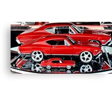 Red Hot Wheels Canvas Print