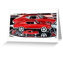 Red Hot Wheels Greeting Card