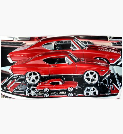 Red Hot Wheels Poster