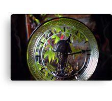 Through the glass clock Canvas Print
