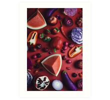 Red and purple food Art Print