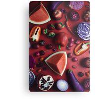 Red and purple food Metal Print