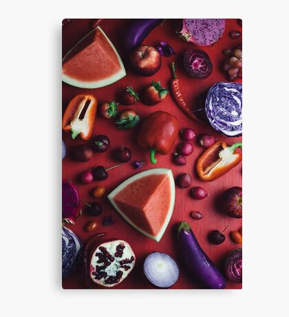 Red and purple food Canvas Print