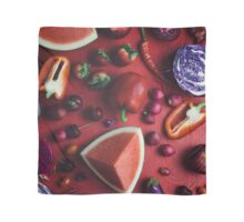 Red and purple food Scarf
