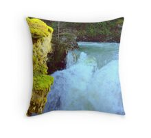 """Nooksack Falls Roar"" Throw Pillow"