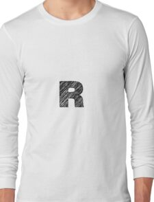 Sketchy Letter Series - Letter R Long Sleeve T-Shirt