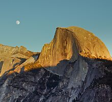 Half Dome at Sunset - Yosemite NP, California by Aaron Minnick