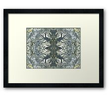 Silver Snowflake (Marcasite in Agate) Framed Print