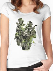 Metal Gear Solid Snake Eater Women's Fitted Scoop T-Shirt