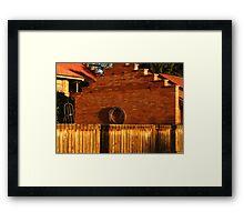 Brick Wreath Framed Print