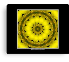 Yellow Lily Kaleidoscope #1 Canvas Print