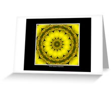 Yellow Lily Kaleidoscope #1 Greeting Card
