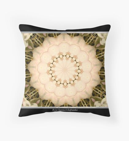White Hydrangea Kaleidoscope #1 Throw Pillow