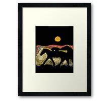 After the Gold Rush River Ponies 2 Framed Print