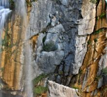 "The ""twin"" waterfalls of Souda Sticker"