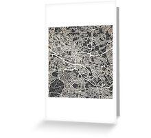 Glasgow map Greeting Card