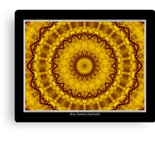 Yellow Flower Kaleidoscope #1 Canvas Print