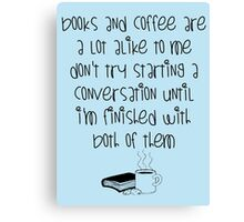 Books and Cofee, baby Canvas Print