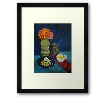 An Afternoon Snack Framed Print
