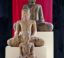 Three Buddhas Of Cambodia by phil decocco